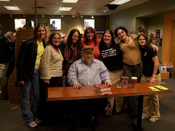 George R.R. Martin signing 2005