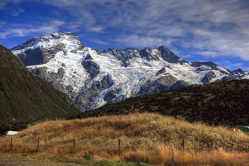 Mt. Cook at midnight