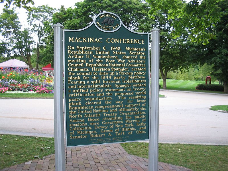Mackinac historic marker